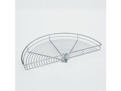Karusel 180°, 760x384x70 mm, chrom (1x koš + pant + háček)