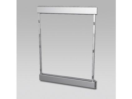 DOPRODEJ - Plnovýsuvný rám boční Compact - levý, 610x480 mm, stříbrný komaxit