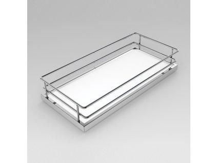 DOPRODEJ - Koš 90° Compact k bočnímu rámu, 305x88x476 mm, plné dno, chrom