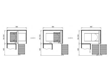 Slepý roh Komfort s tlumeným dovřením - L/P, drátěné koše, 670x460x600 mm, chrom