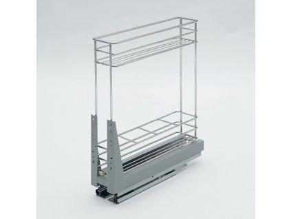 Plnovýsuvný dvojkoš Komfort spodní s tlumeným dovřením, 110x465x522 mm, chrom