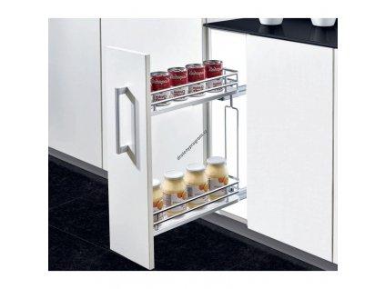 Plnovýsuvný dvojkoš boční Elegance s tlumeným dovřením - Pravý, 110x470x570 mm