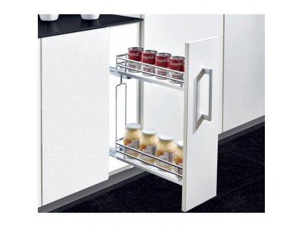 Plnovýsuvný dvojkoš boční Elegance s tlumeným dovřením - Levý, 160x455x520 mm