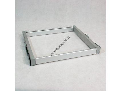 Univerzální rám s tlumeným dovřením, 564-624x480x56 mm, hliník eloxovaný