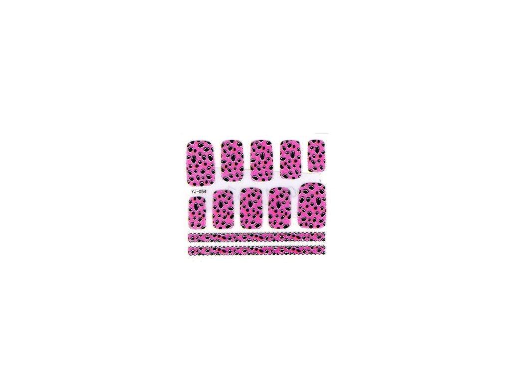10070 nalepky pink nail