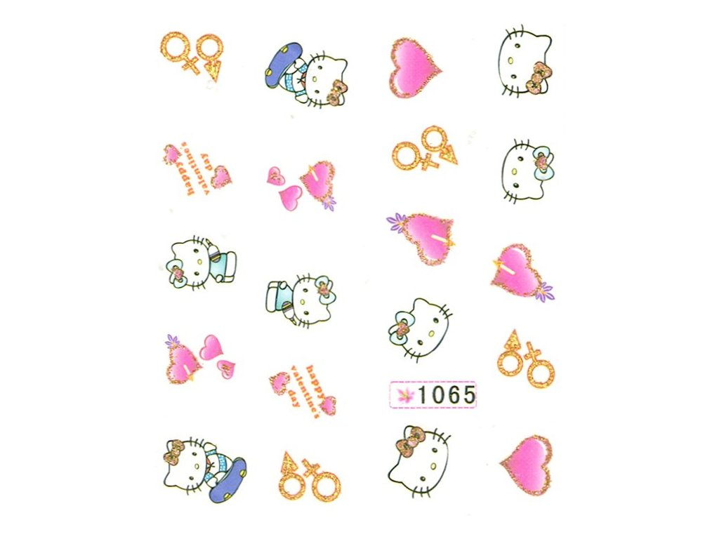 10934 nalepky love kitty