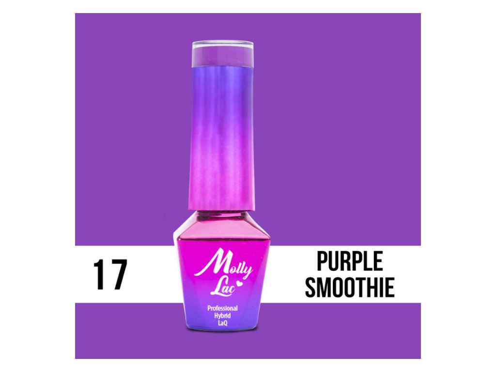 13067 1 gel lak molly lac cocktails drinks purple smoothie 5ml nr 17