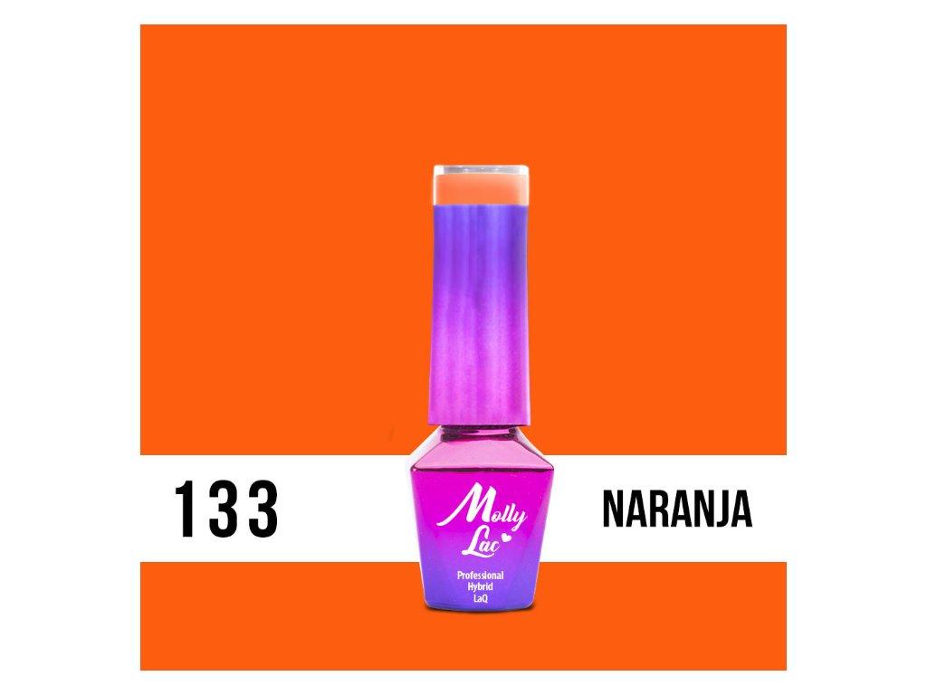 13127 1 gel lak molly lac bubble tea naranja 5ml nr 133