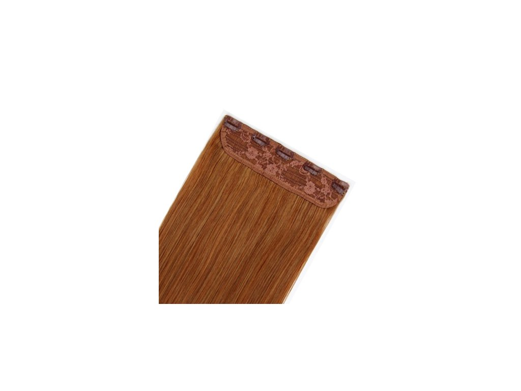 13598 flip volume jednopasove clip in vlasy 60cm 60g odtien 8