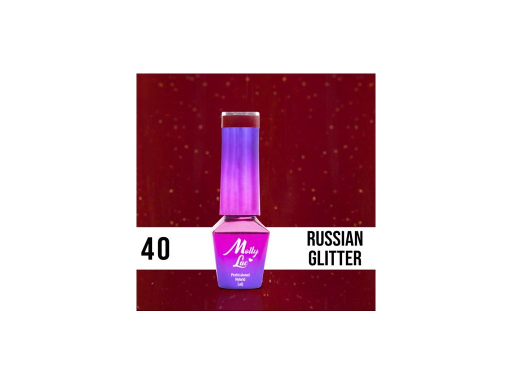 GEL LAK Molly Lac ELITE WOMEN RUSSIAN GLITTER 5ml Nr 40
