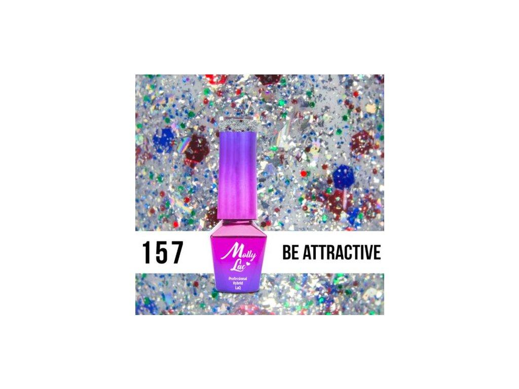 GEL LAK Molly Lac Molly Lac Gem & Silver Be Attractive 5ml Nr 157