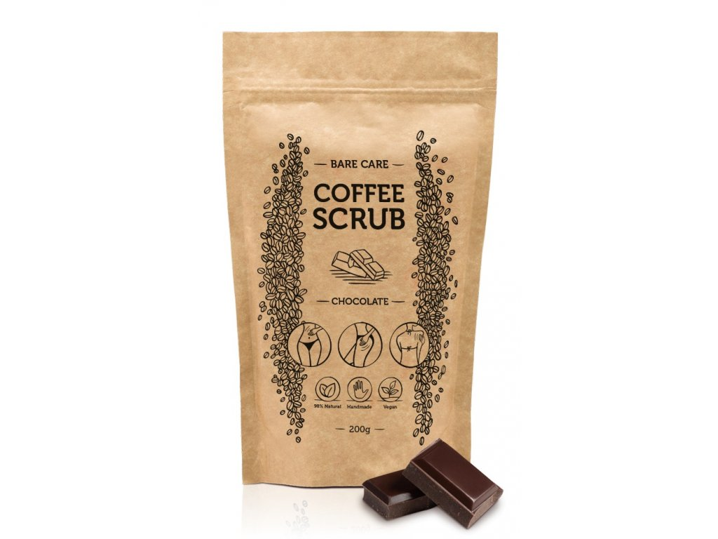 14892 cokolada kavovy peeling s vonou cokolady barecare 200g
