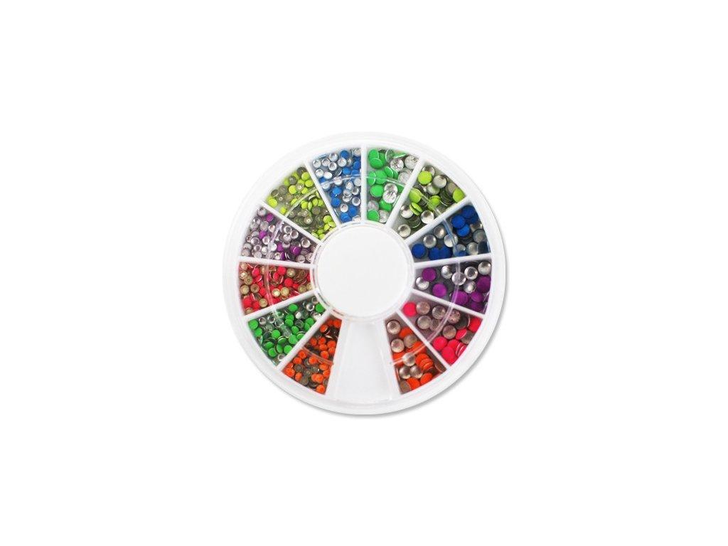 4268 farebne kovove kruzky