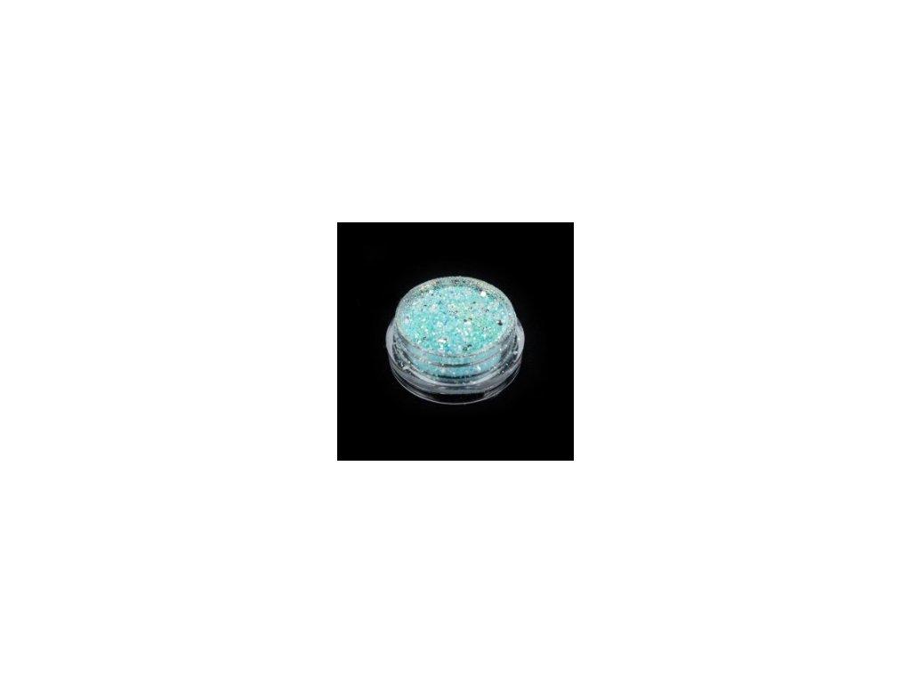 4472 svietiace glitre modre