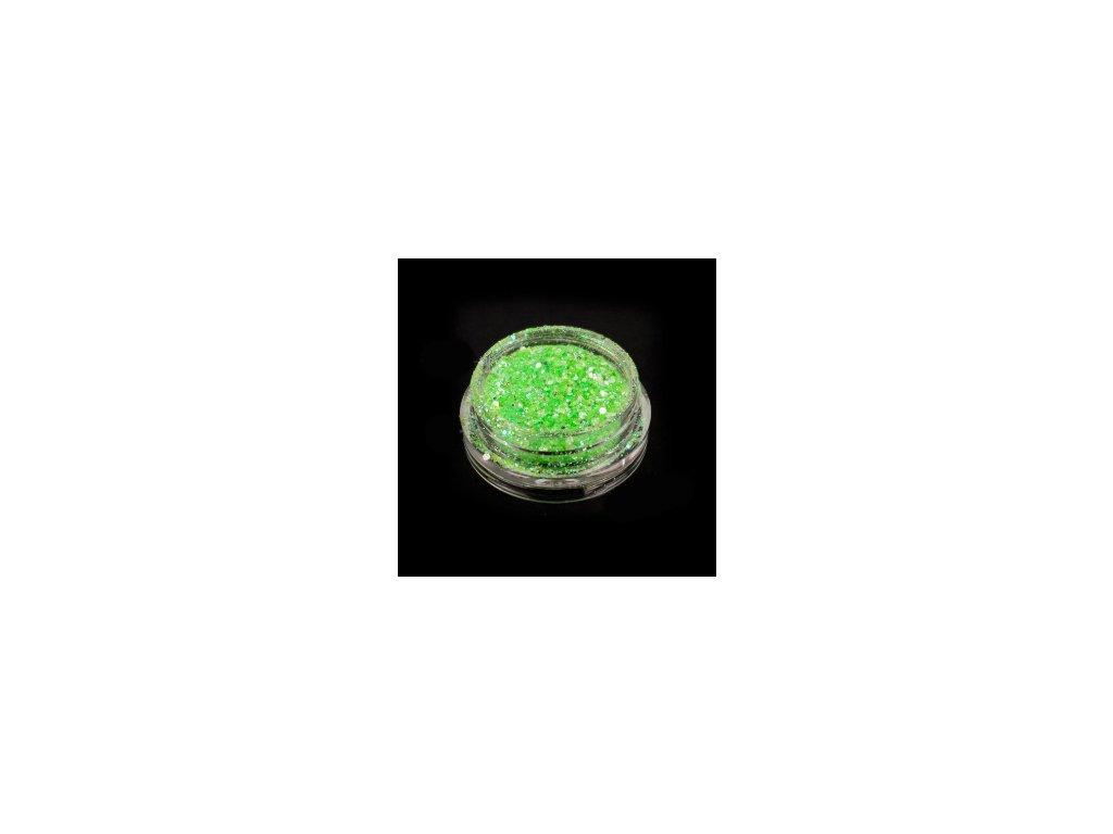 4478 svietiace glitre zelene
