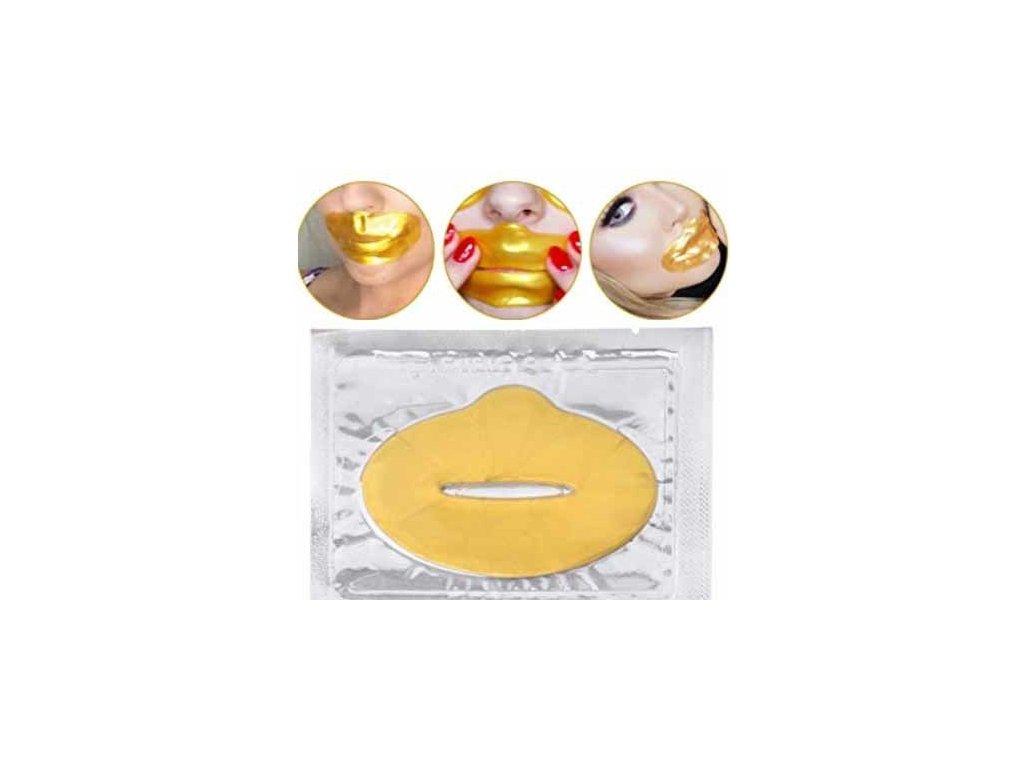 5087 maska na pery s kolagenom zlata