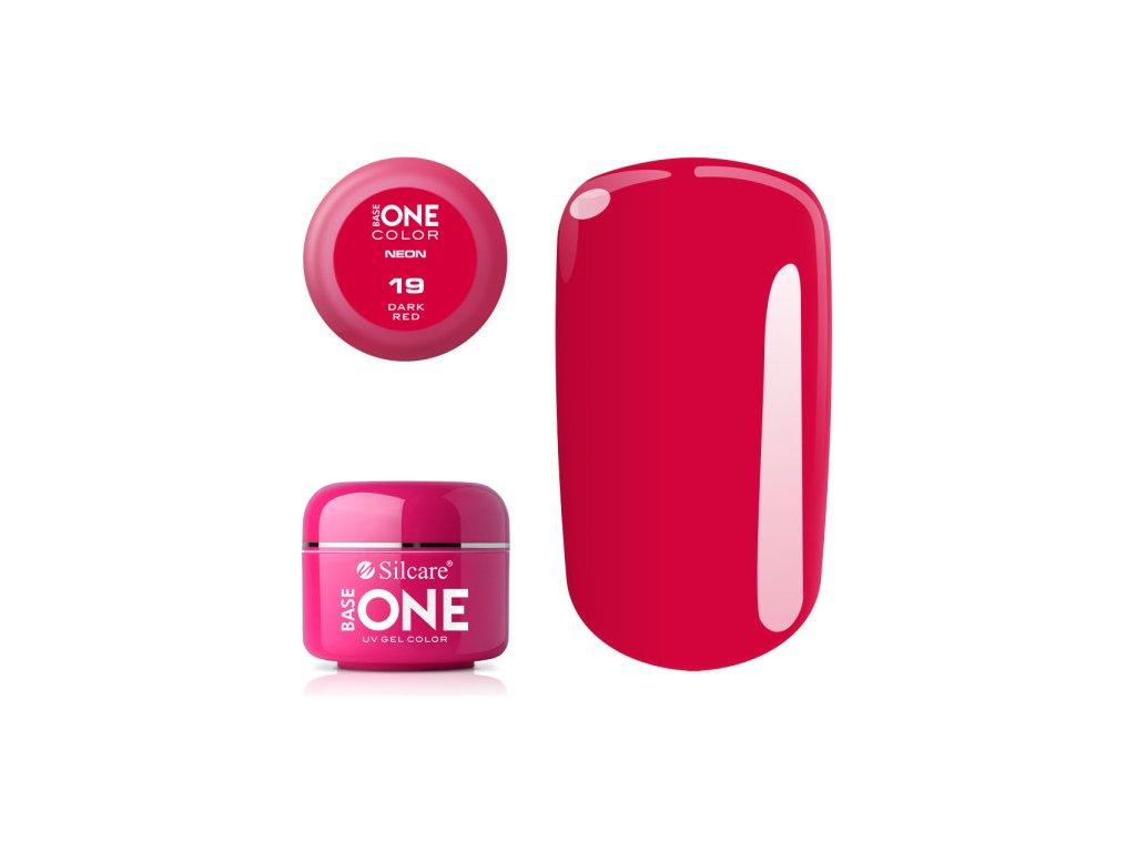 5234 silcare farebny uv gel 5ml neon dark red 19