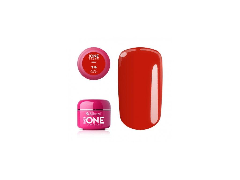 5285 silcare farebny uv gel 5ml red colection 14
