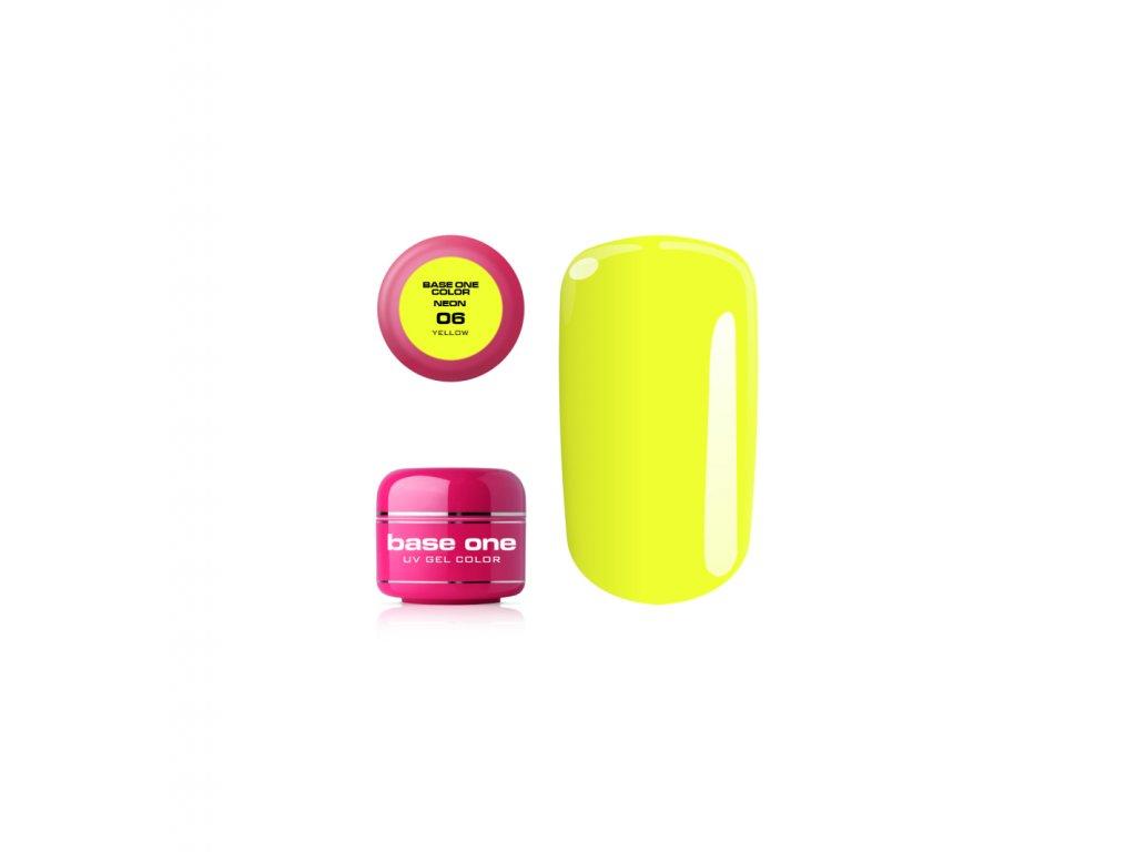5345 silcare farebny uv gel 5ml neon yellow 6