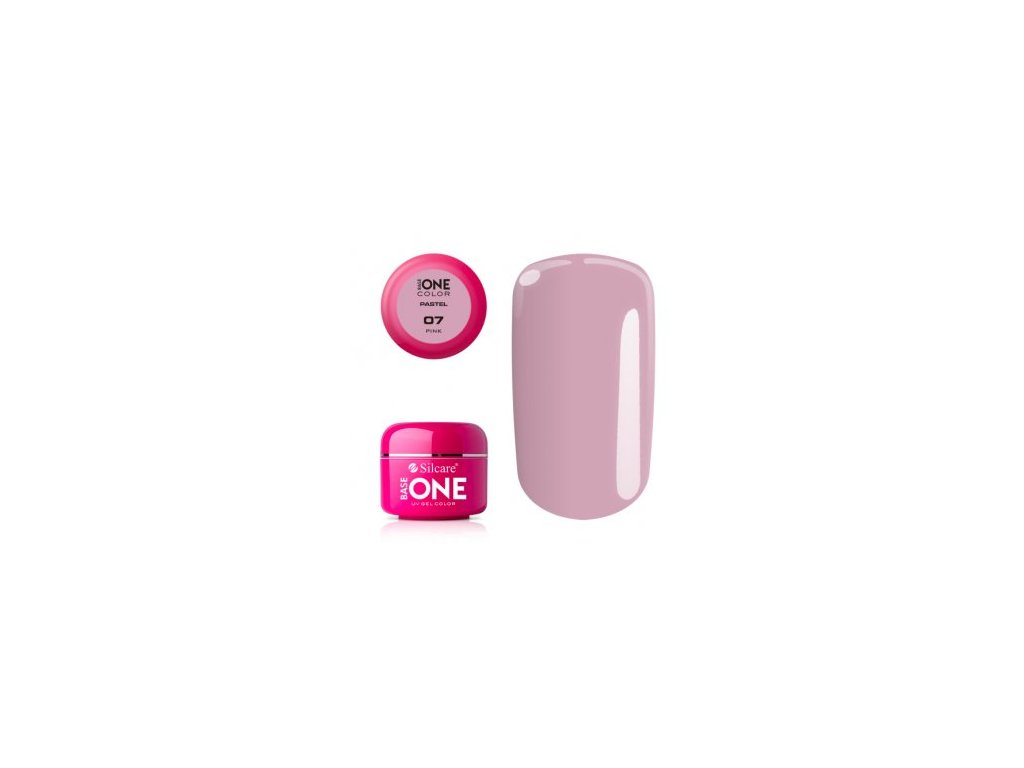 5369 silcare farebny uv gel 5ml pastel pink 7