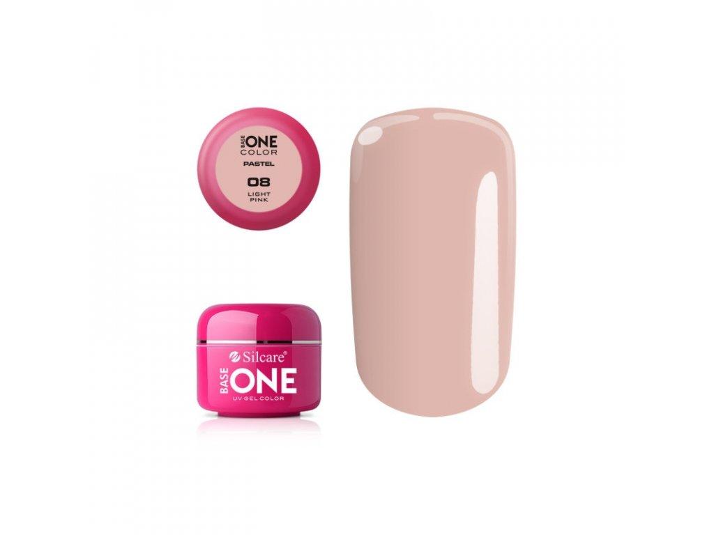 5372 silcare farebny uv gel 5ml pastel light pink 8
