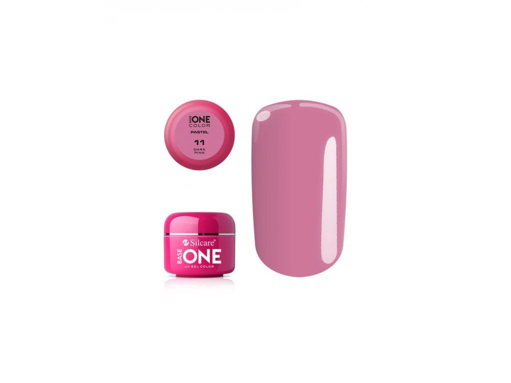 5378 silcare farebny uv gel 5ml pastel dark pink 11