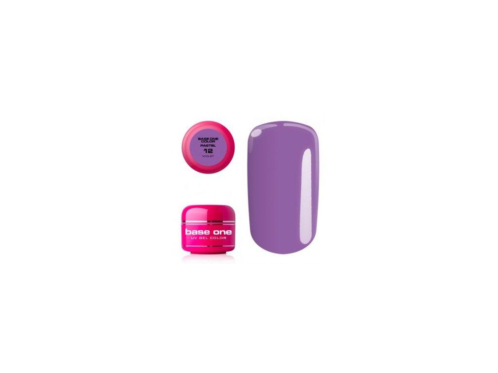 5393 silcare farebny uv gel 5ml pastel violet 12