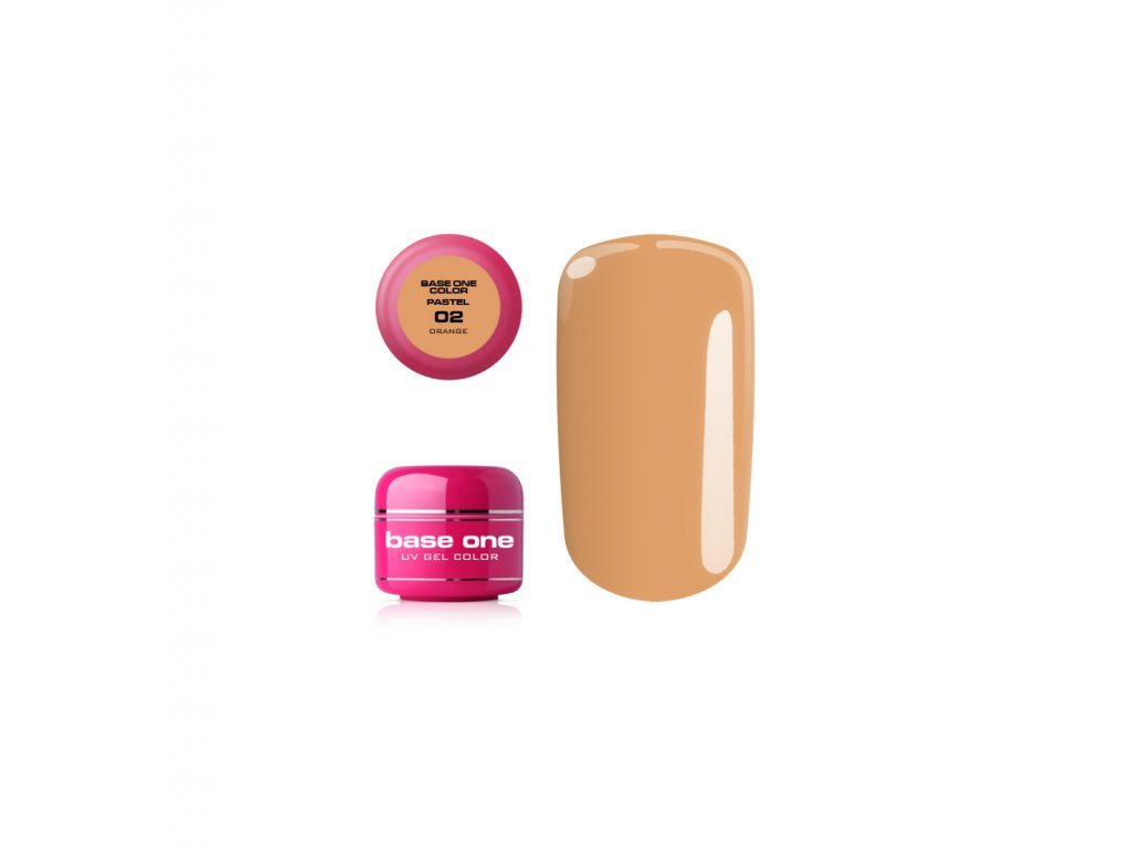 5399 silcare farebny uv gel 5ml pastel orange 2