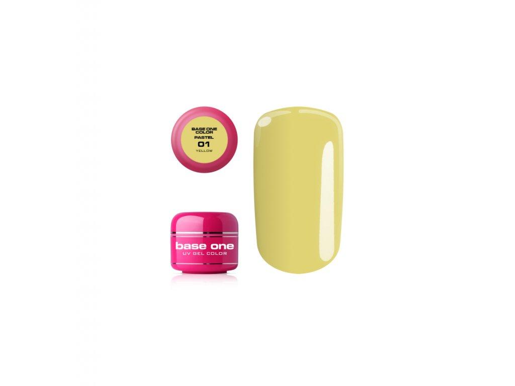 5405 silcare farebny uv gel 5ml pastel yellow 1