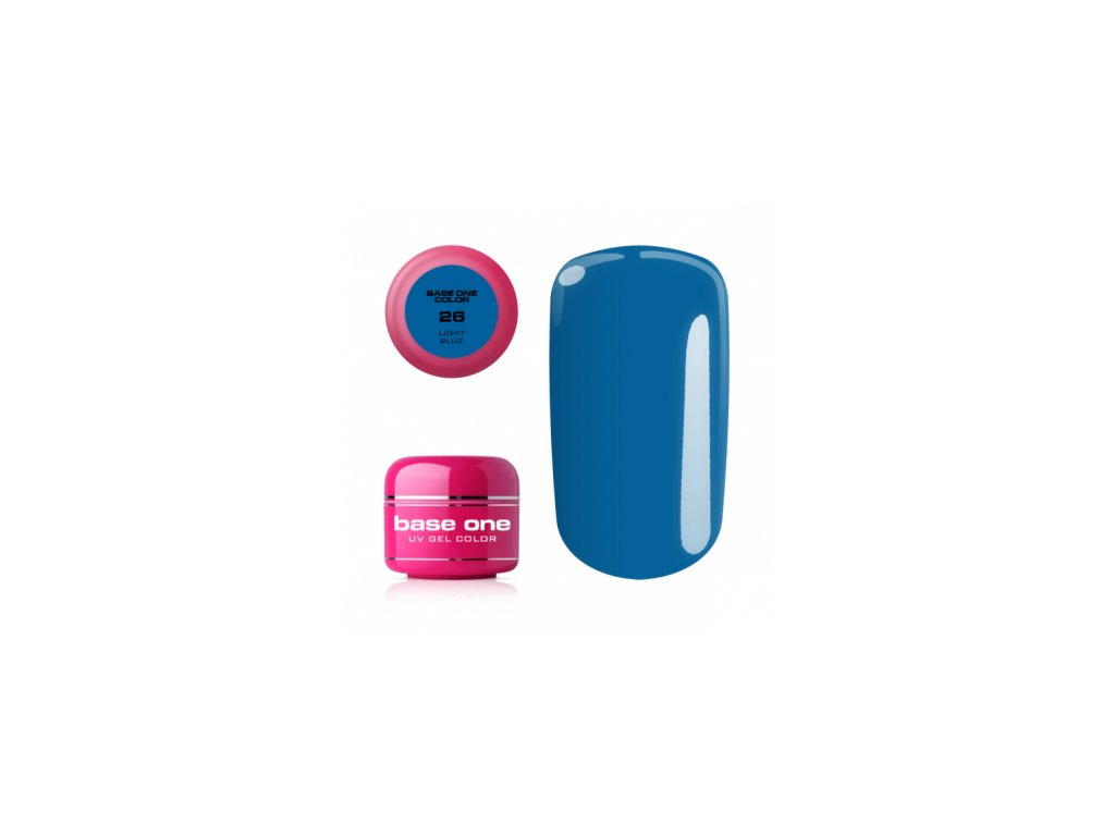 5456 silcare farebny uv gel 5ml noname light blue 26