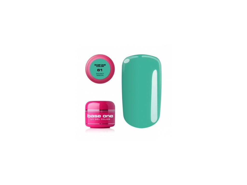 5507 silcare farebny uv gel 5ml base one secret green 61