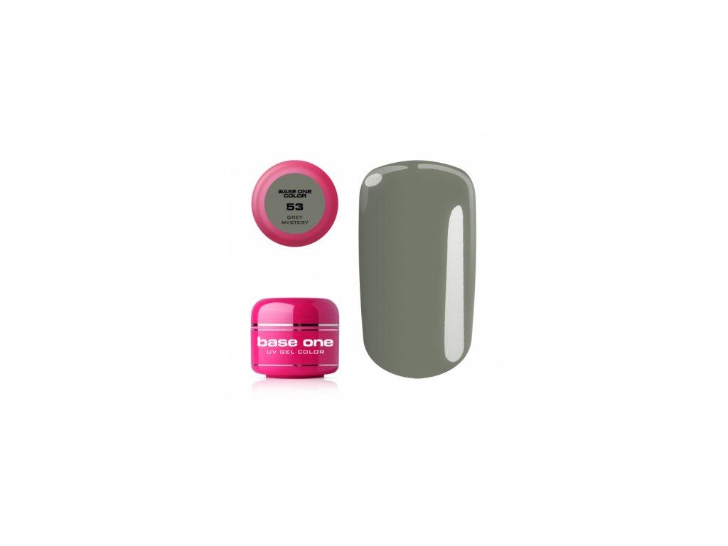5516 silcare farebny uv gel 5ml base one grey mystery 53