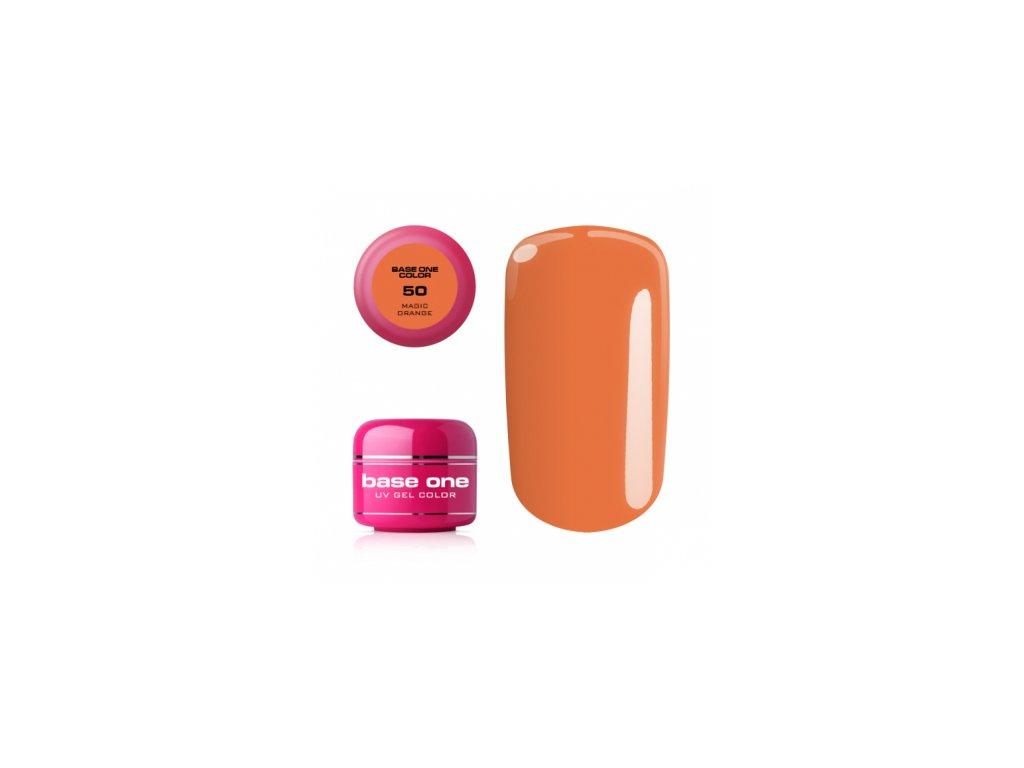 5522 silcare farebny uv gel 5ml base one magic orange 50