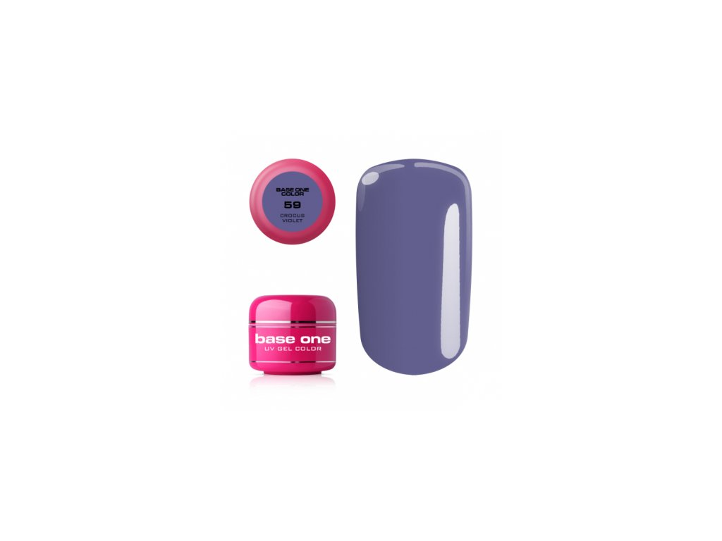 5534 silcare farebny uv gel 5ml base one crocus violet 59