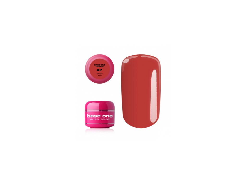 5540 silcare farebny uv gel 5ml base one spicy red 47