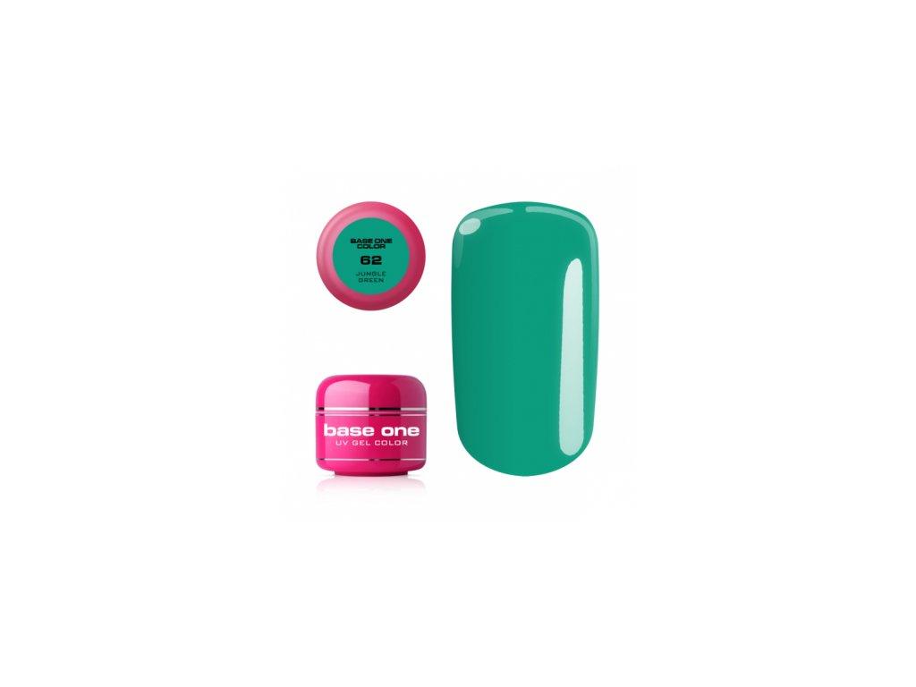 5552 silcare farebny uv gel 5ml base one jungle green 62
