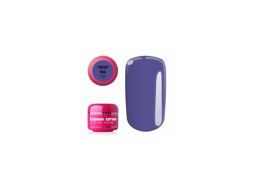 5555 silcare farebny uv gel 5ml base one purple love 58