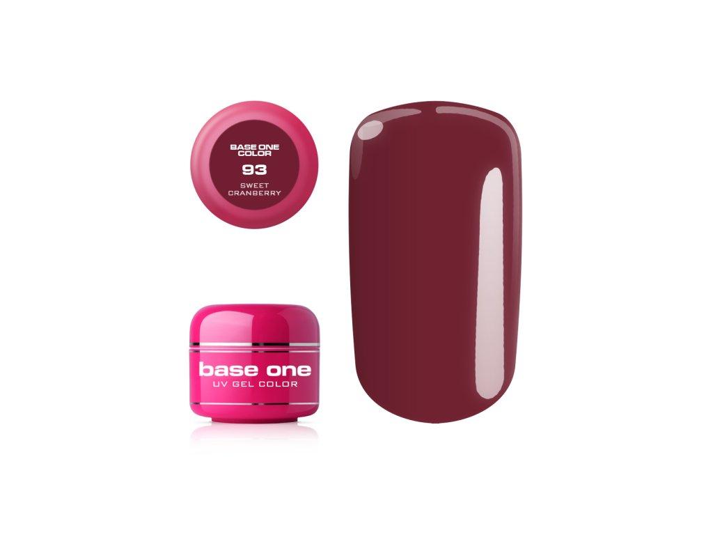 5579 silcare farebny uv gel 5ml base one sweet cranberry 93