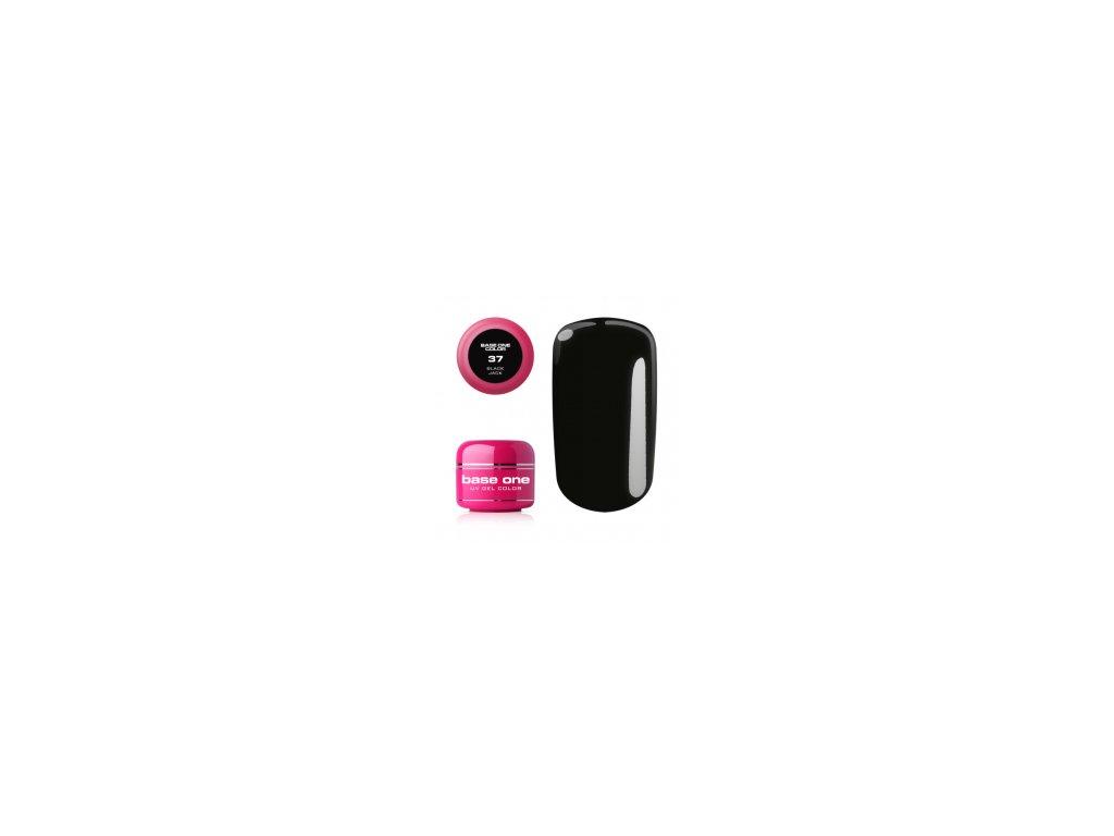 5612 silcare farebny uv gel 5ml base on black jack 37