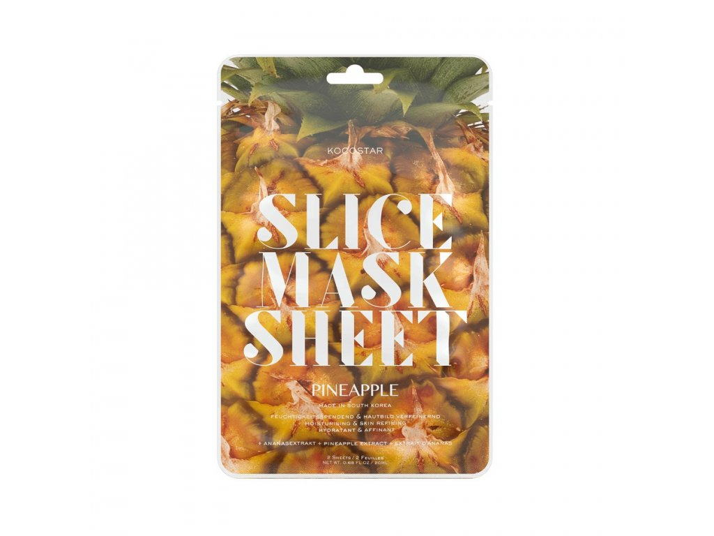 8414 kocostar platky ananas pletova maska