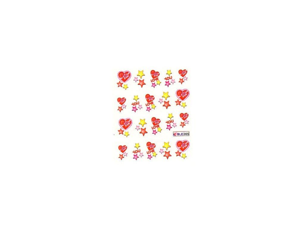 9443 nalepky love star