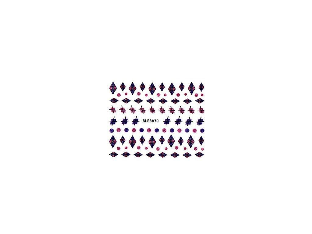 9500 nalepky rozne tvary