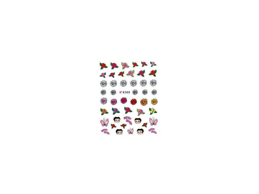 9506 nalepky kvety all