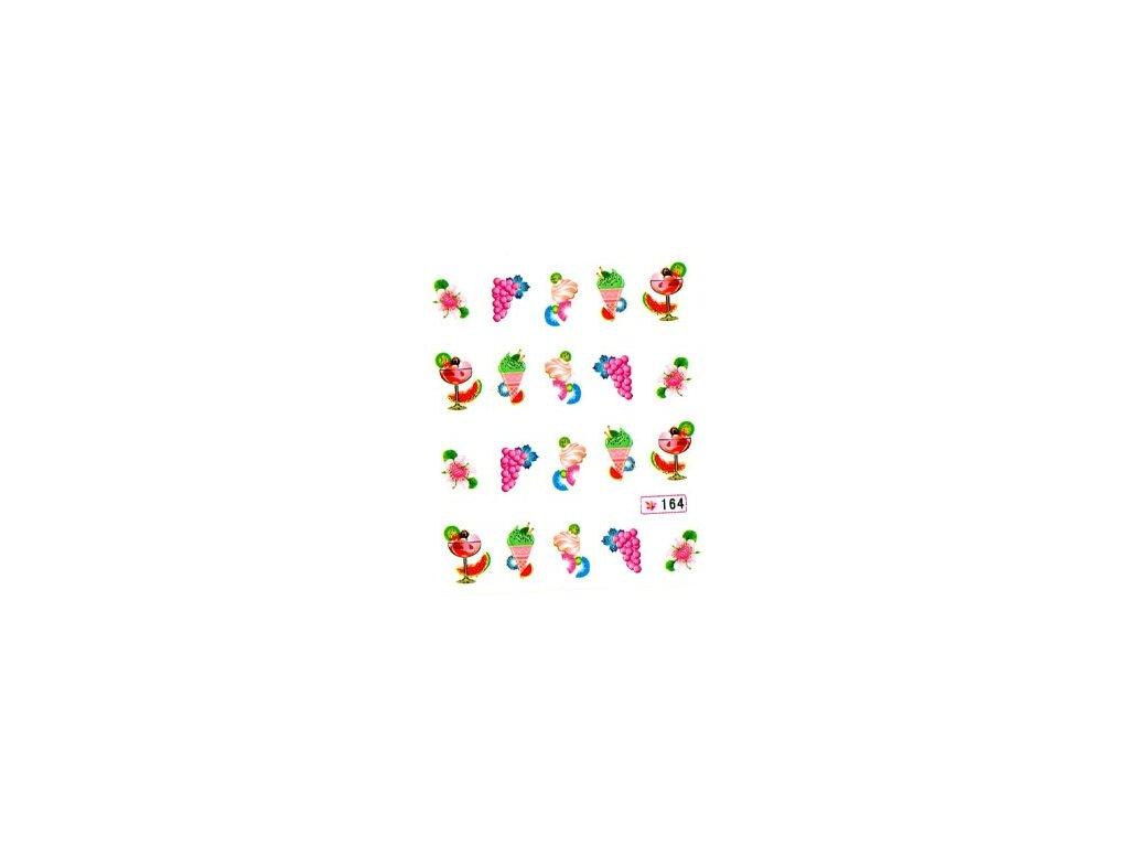 9647 nalepky icecream pohar