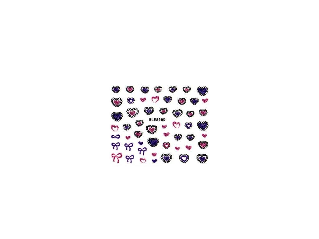 9746 nalepky srdce 2