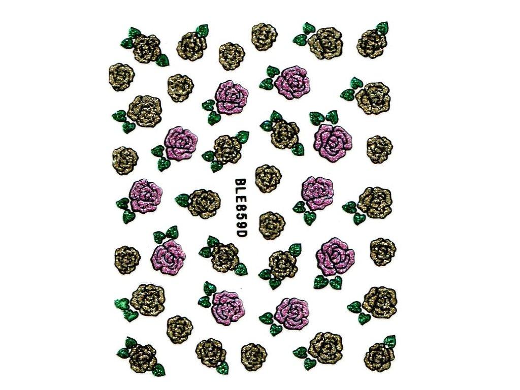 9806 nalepky rose