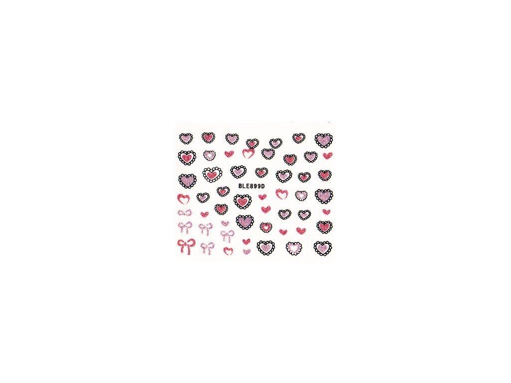 9830 nalepky srdce 4