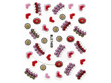 10589 nalepky mix srdce