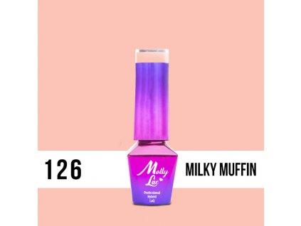 13028 1 gel lak molly lac yoghurt milky muffin 5ml nr 126