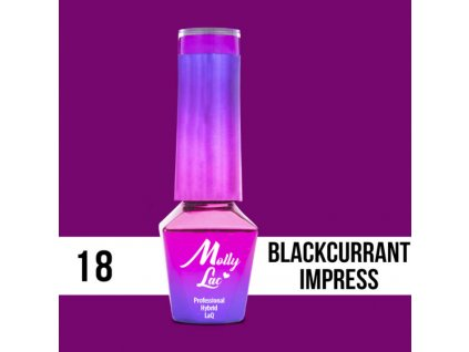 13064 gel lak molly lac cocktails drinks blackcurrant impress 5ml nr 18